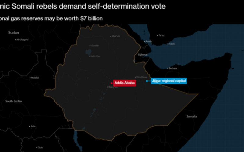 Rebels in Gas-Rich Eastern Ethiopia to Seek Self